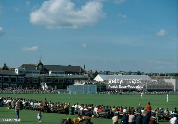 Spectators watch the Schweppes County Championship match between Gloucestershire and Hampshire at the Phoenix County Ground Bristol 7th September...