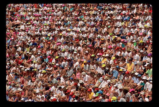 Spectators Watching a Car Race