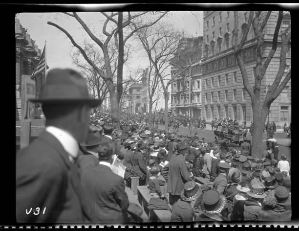 Spectators Watching World War I Victory Parade