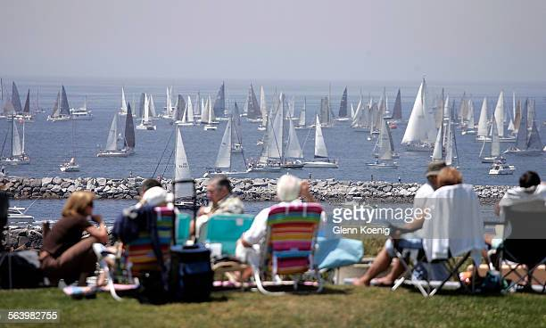 Spectators were watching the start of the Newport Ensenada Yacht Race from Inspiration Point in Corona Del Mar. The world's largest international...