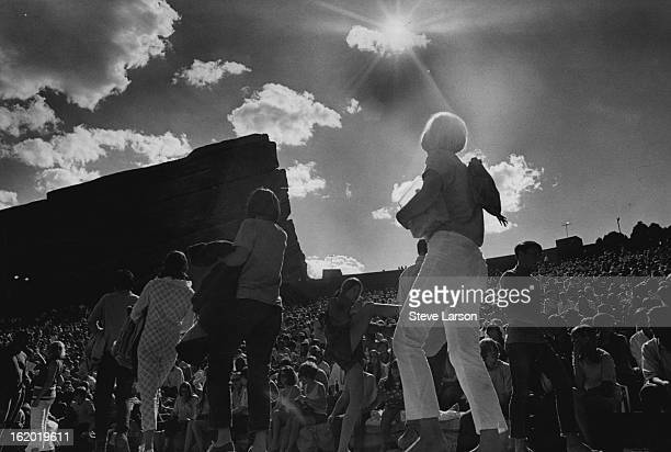 SEP 2 1968 Spectatorsmostly teenagers and young adultscrowd into Red Rocks Amphitheatre late Sunday afternoon for the evening concert of psychedelic...