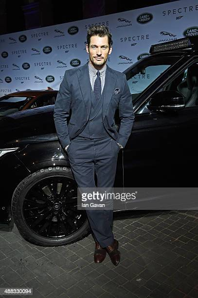 Spectre cast members Naomie Harris and David Bautista join David Gandy at starstudded event in Frankfurt as Jaguar and Land Rover stunt vehicles make...