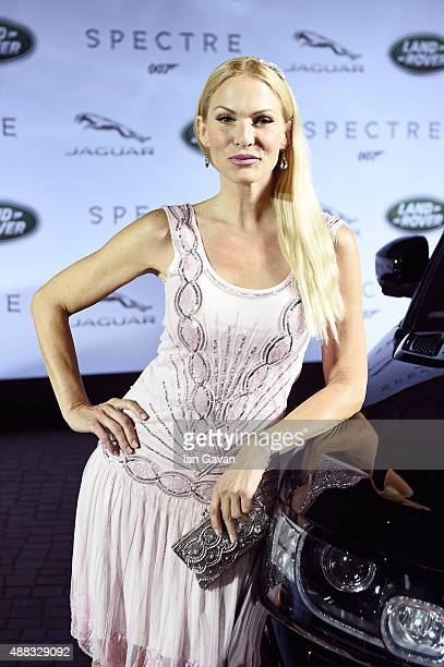 Spectre cast members Naomie Harris and David Bautista join Sonya Kraus at star-studded event in Frankfurt as Jaguar and Land Rover stunt vehicles...