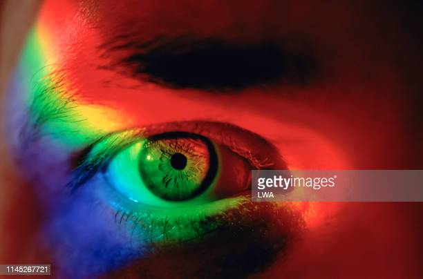 spectrum and eye - spectrum stock pictures, royalty-free photos & images
