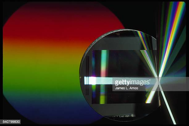 Spectrum Produced by Aluminum Diffraction Grating