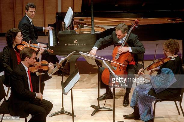 Speculum Musicae performing the music of Elliott Carter and Goffredo Petrassi at Merkin Concert Hall on Monday night, December 10, 2001.This...