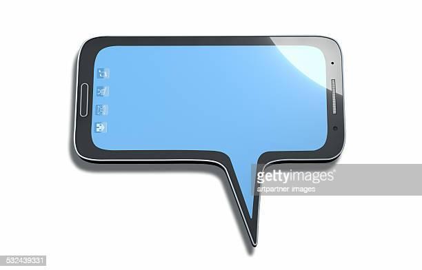 Speech balloon looking like a smartphone
