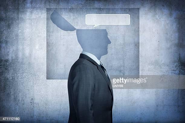 Bulle de dialogue de la communication concept