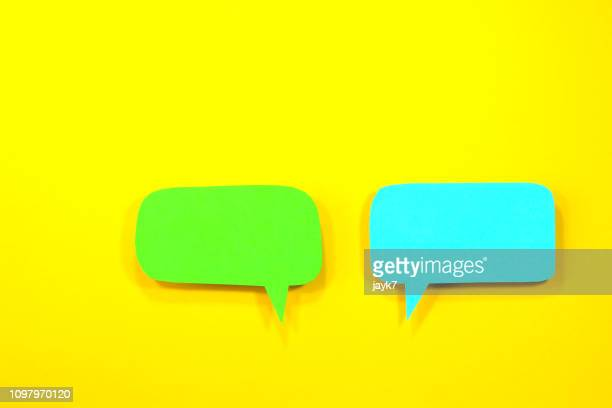 speech bubble - speech bubble stock pictures, royalty-free photos & images