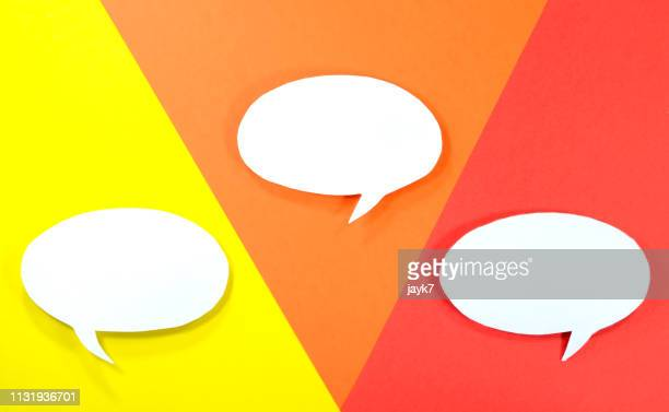 speech bubble - rumor stock pictures, royalty-free photos & images