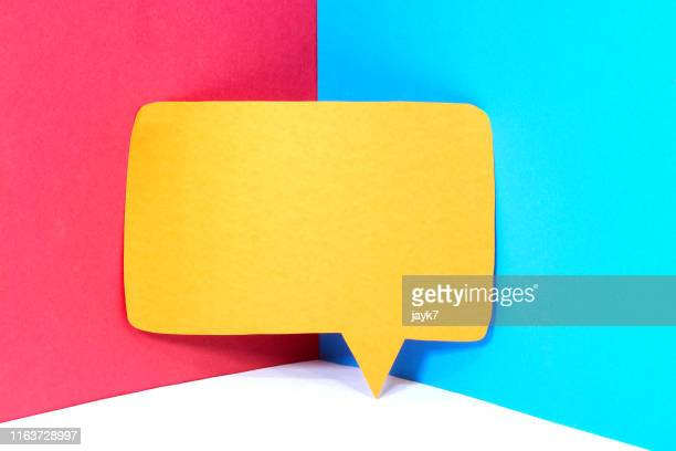 speech bubble - announcement message stock pictures, royalty-free photos & images