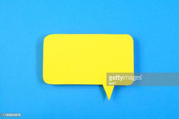 speech bubble - symbol stock pictures, royalty-free photos & images