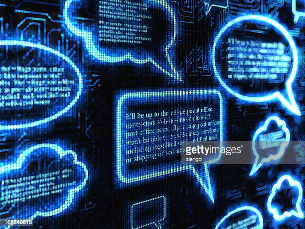 speech bubble - quotation text stock photos and pictures