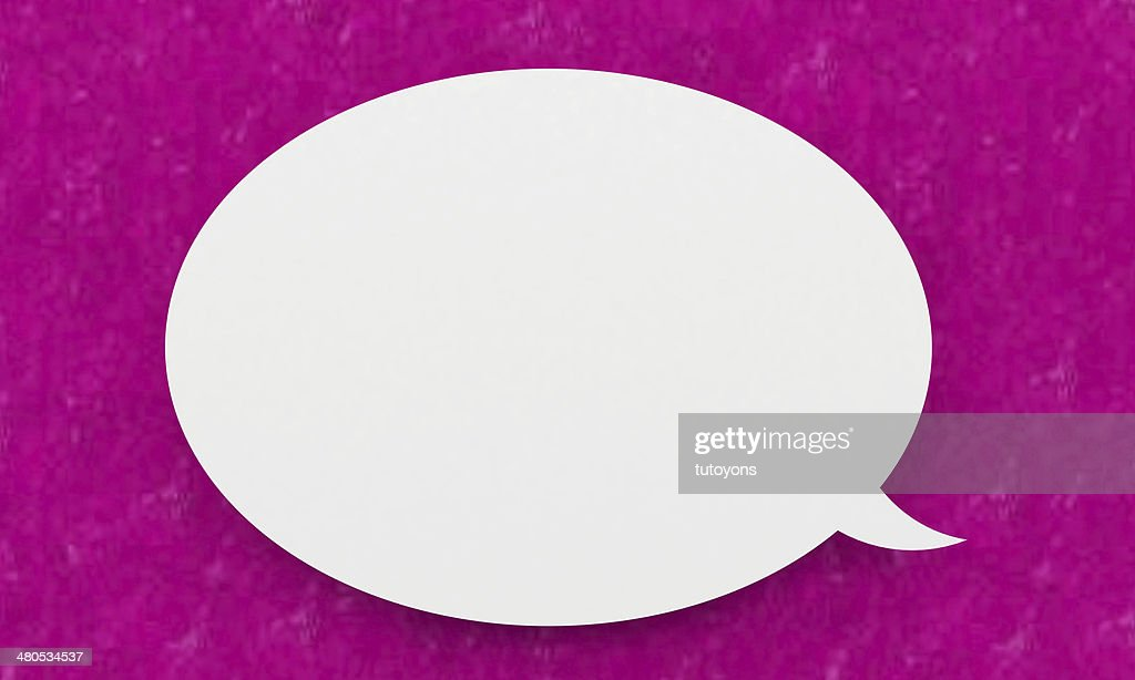 Speech bubble : Stock Photo