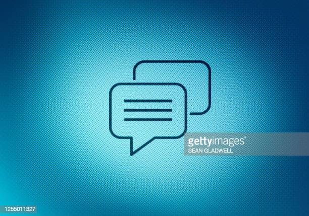 speech bubbles on screen - gossip stock pictures, royalty-free photos & images