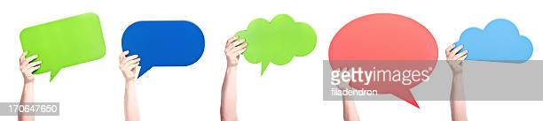speech bubbles - people icons stock pictures, royalty-free photos & images