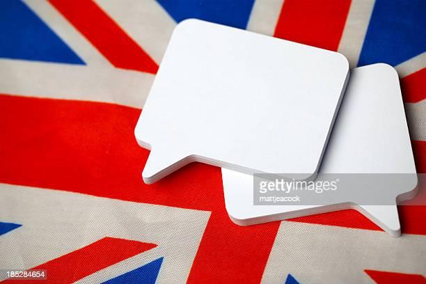 discurso de burbujas - cultura británica fotografías e imágenes de stock
