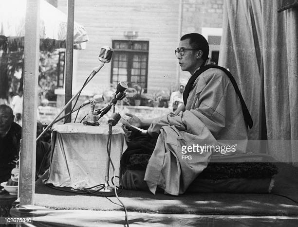 A speech by the 14th Dalai Lama Tenzin Gyatso circa 1955