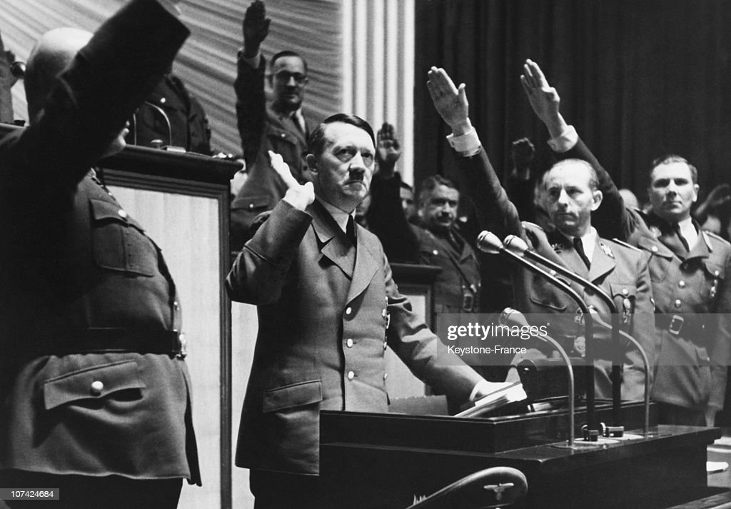 Speech Of Hitler The Day Of War Declaration Against United State In Germany On December 11St 1941 : News Photo