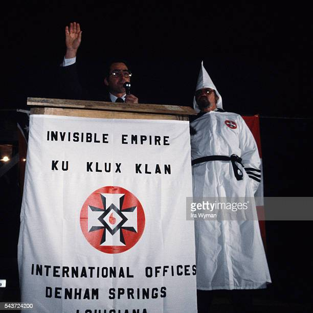 Speech of Imperial Wizard Bill Wilkinson head of the Invisible Empire Knights of the Ku Klux Klan a secret militant organization advocating white...
