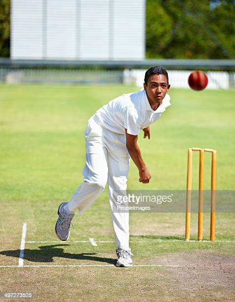 speed and accuracy is his game - cricket player stock pictures, royalty-free photos & images