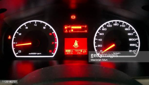 speed and rpm gauge meter of a car - gauge stock pictures, royalty-free photos & images