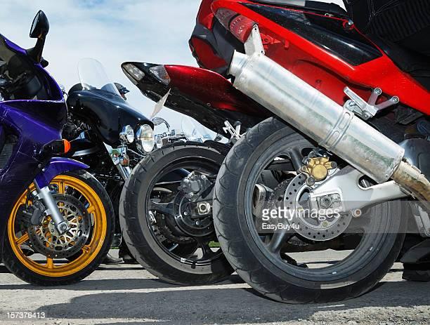 Speed bikes close up