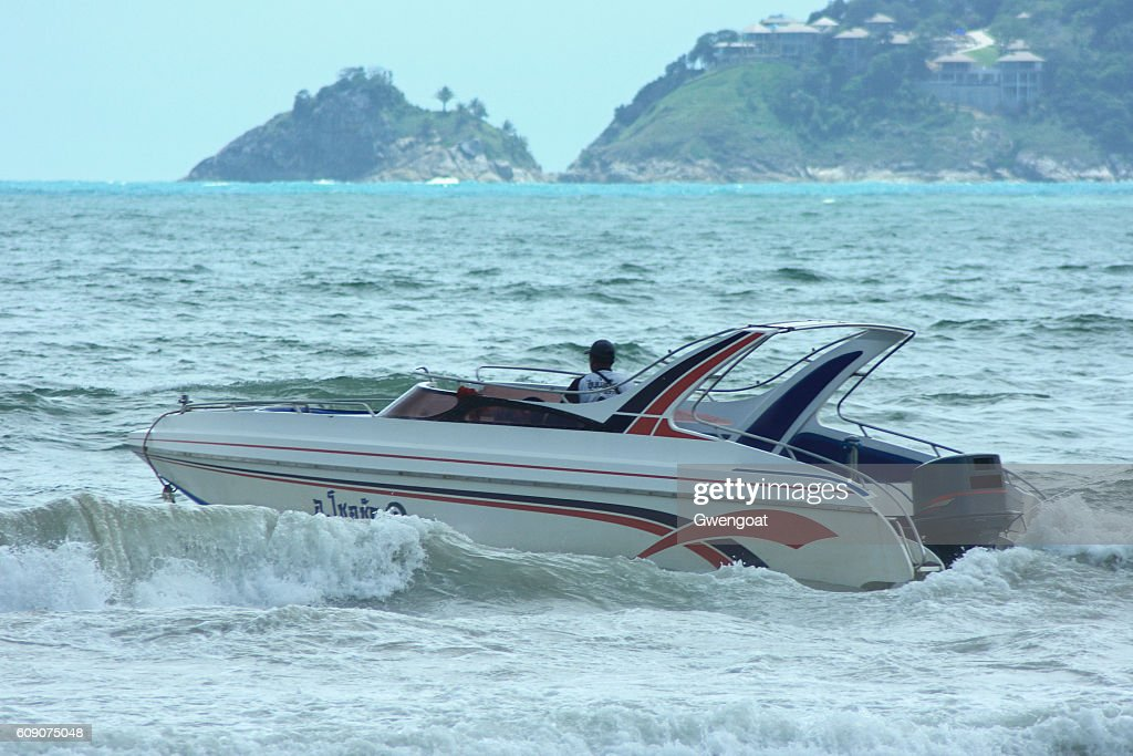 Speed boat in Phuket : Stock Photo