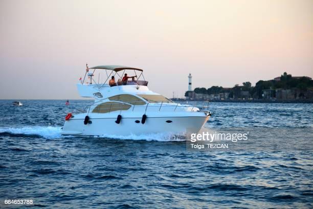 Speed boat in the Bosphorus