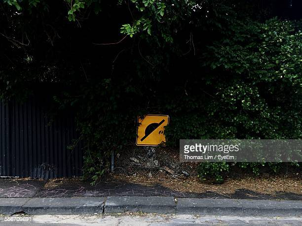 Speed Bump Sign By Street