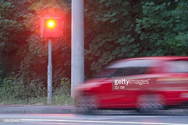 Speed ​​camera photographed a to speedy car