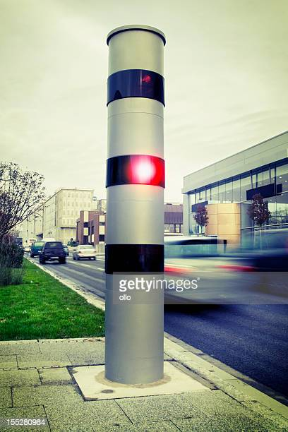 Speed camera with passing cars