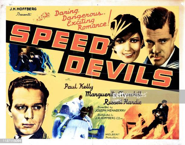Speed Devils poster from left Russell Hardie Marguerite Churchill Paul Kelly 1935