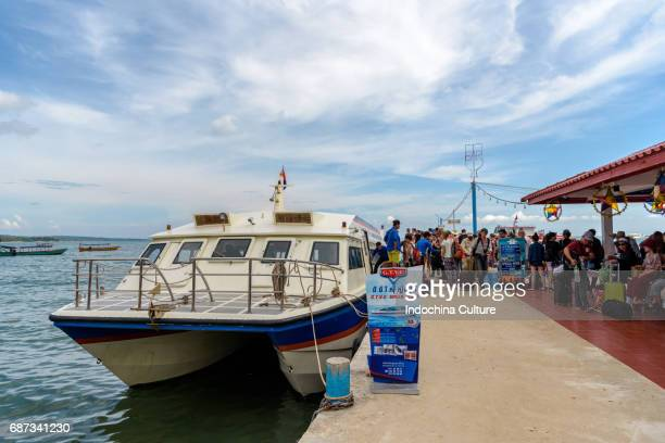 Speed Ferry boat of Sihanouk village to Koh Rong Island