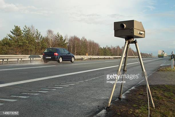 speed limit enforcement on german motorway - visual_effects stock pictures, royalty-free photos & images