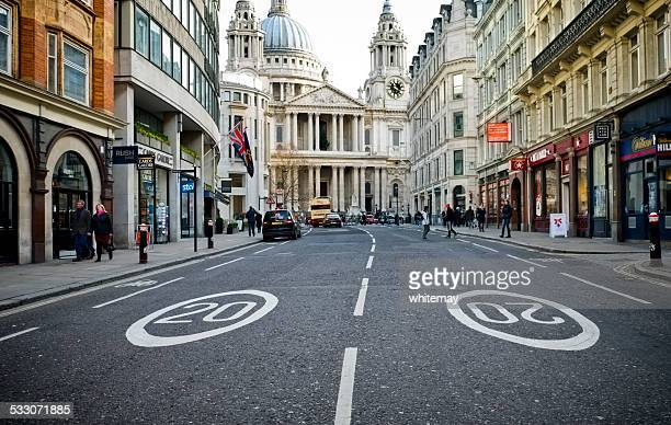 speed limit in ludgate hill, london - number 20 stock pictures, royalty-free photos & images