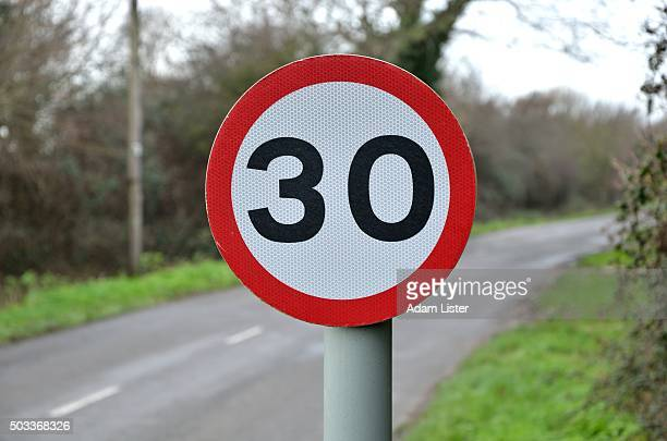 Speed limit on country road