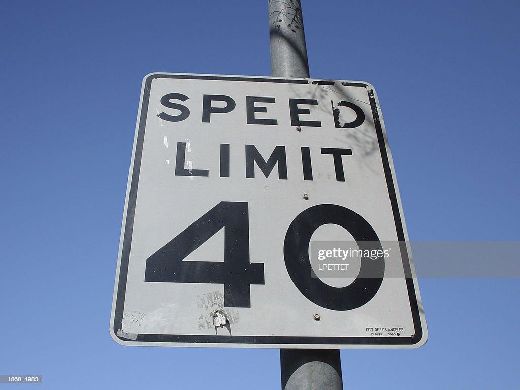 Speed Limit : Stock Photo