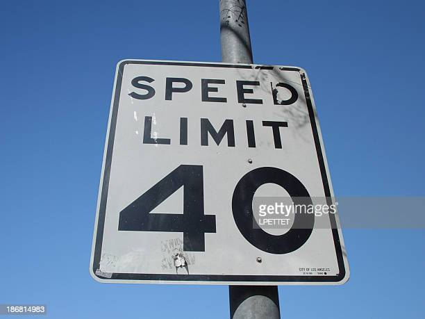 speed limit - number 40 stock photos and pictures