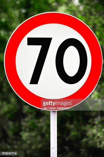 Speed limit sign 70 km/h