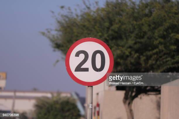 speed limit sign in city - number 20 stock pictures, royalty-free photos & images
