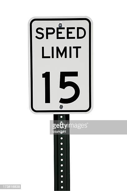 Speed limit sign with clipping path