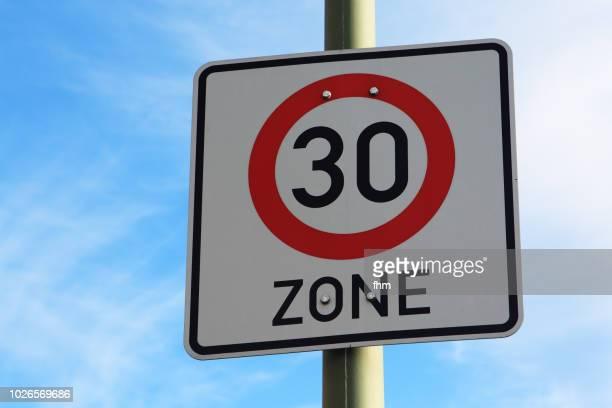 Speed limit - street sign (Berlin, Germany)