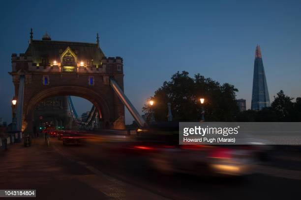 Speed of Light at Twilight. Tower Bridge