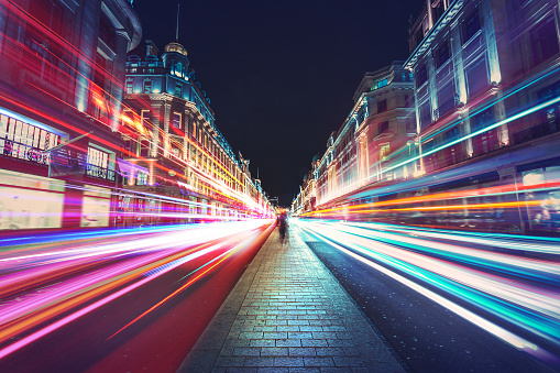Speed of light in London city 961050380