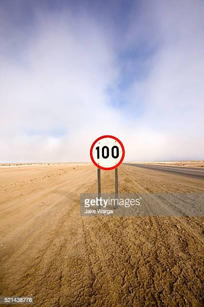 speed sign, namibia - jake warga stock pictures, royalty-free photos & images