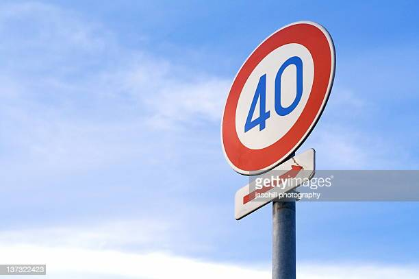 speed sign - number 40 stock photos and pictures