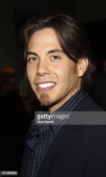 Speed skater Apolo Anton Ohno arrives at The Wedding Singer after party at Crobar on April 27 2006 in New York City