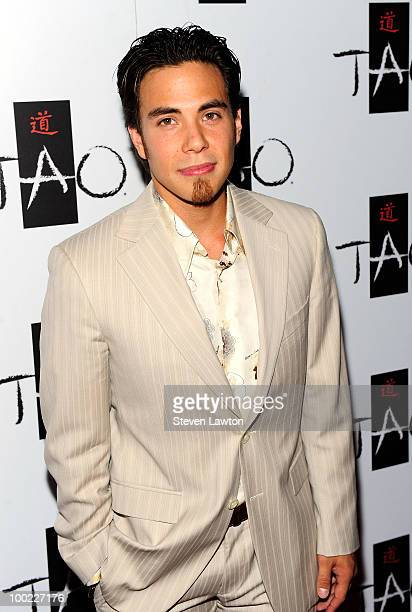 Speed skater Apolo Ohno arrives to celebrate his birthday at Tao Nightclub at the Venetian on May 21 2010 in Las Vegas Nevada