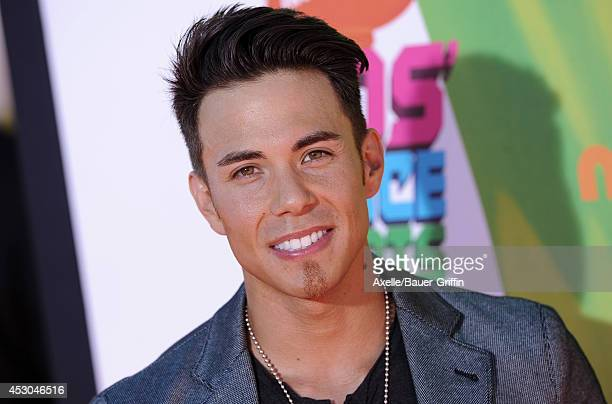 Speed skater Apolo Ohno attends Nickelodeon Kids' Choice Sports Awards 2014 at UCLA's Pauley Pavilion on July 17 2014 in Los Angeles California
